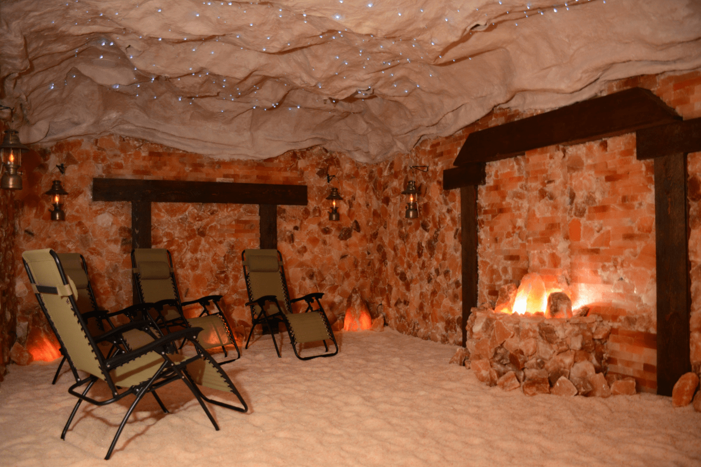 salt cave used for salt therapy